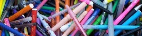 Photo de stylos recyclés