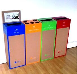 4 box de recyclage en entreprise et au bureau