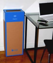 box de recyclage papiers bureau