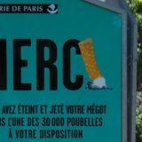 Bientôt des rues sans aucun mégot à Paris !
