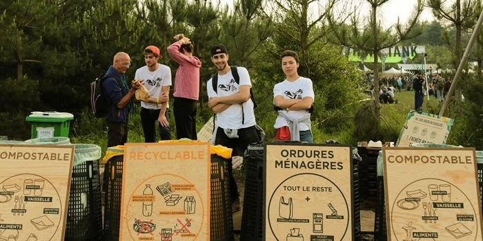 Recyclage à Paris - Photo2 Bennes Conteneurs Tri sélectif festival parisien