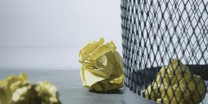 Recyclage en entreprise - Déchets de bureau benne papier